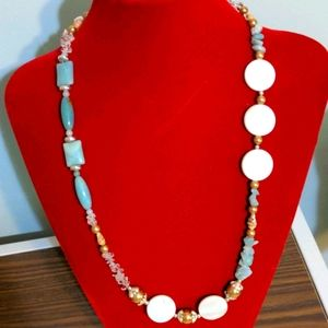 Handcrafted Amazonite/Mother of Pearl necklace